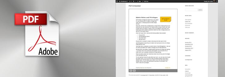 WordPress で pdf ファイルを表示するいくつかの方法